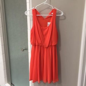 Lush coral dress from Nordstrom NWT